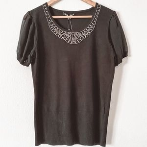 Cable & Gauge Sweater Top
